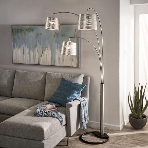 Mori Polished Nickel Three-Light Tree Floor Lamp, image 4